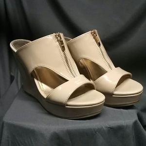Marc Fisher Tan Wedges